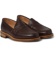 Mark McNairy Pebble-Grain Leather Penny Loafers