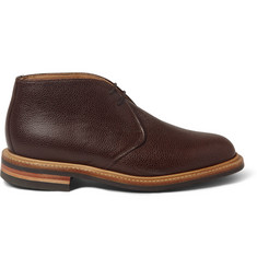 Mark McNairy Pebble-Grain Leather Desert Boots