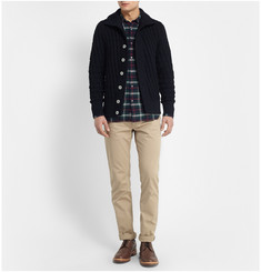 S.N.S. Herning Stark Chunky Waffle-Knit Wool Cardigan