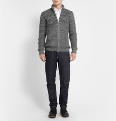 S.N.S. Herning Notation Chunky-Knit Wool Cardigan