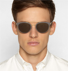 Mykita Dash Lightweight Round-Frame Metal Sunglasses