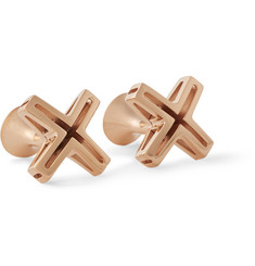 Richard James Rose Gold-Plated Cross Cufflinks
