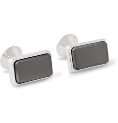 Richard James Hematite-Inlaid Silver Cufflinks