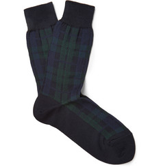 Beams Plus Tartan Cotton-Blend Socks