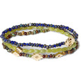 Luis Morais - Gold, Jadeite and Glass Bead Bracelet Set of 3