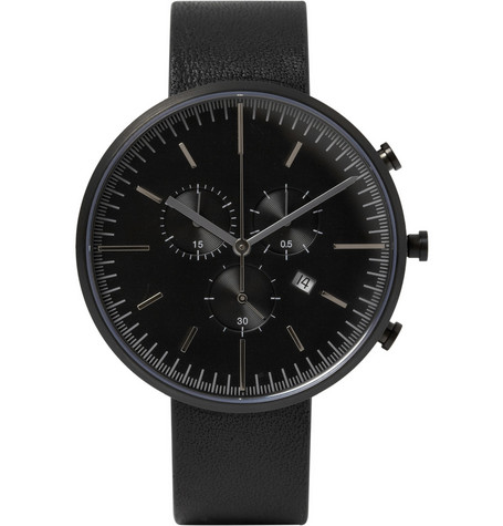 Uniform Wares 302 Series Chronograph Stainless Steel Wristwatch