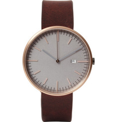 Uniform Wares 203 Series Rose Gold Wristwatch