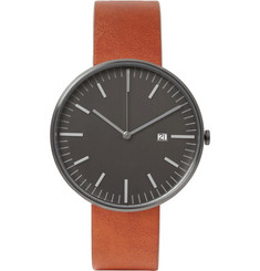 Uniform Wares 203 Series Brushed-Steel Wristwatch