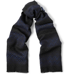 Missoni Reversible Patterned Wool Scarf