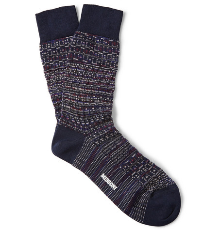 Missoni Textured Wool and Cotton-Blend Socks