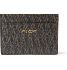 Saint Laurent Printed Textured-Leather Card Holder