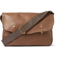 Bill Amberg Hunter Grained-Leather Messenger Bag