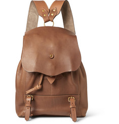 Bill Amberg Hunter Grained-Leather Backpack