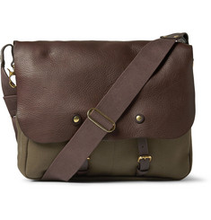 Bill Amberg Hunter Canvas and Leather Backpack