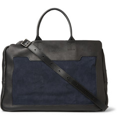 Bill Amberg Livingstone Leather and Suede Holdall