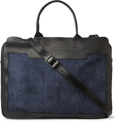 Bill Amberg Scott Leather and Suede Briefcase