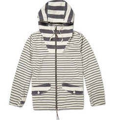 Remi Relief Striped Cotton-Blend Lightweight Jacket