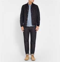 Remi Relief Slim-Fit Washed-Denim Shirt