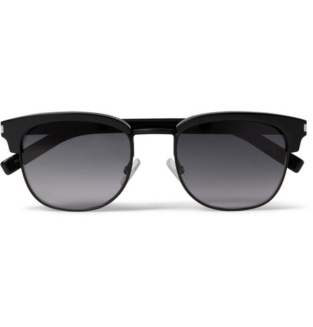 Saint Laurent SL5 Square-Frame Acetate Sunglasses