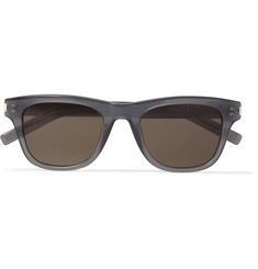 Saint Laurent Classic 2 Square-Frame Acetate Sunglasses