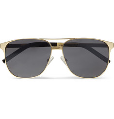 Saint Laurent Classic 13 Square-Frame Metal Sunglasses