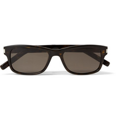 Saint Laurent SL35 Square-Frame Tortoiseshell Acetate Sunglasses