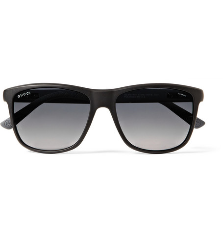 Gucci Matte-Acetate D-Frame Polarised Sunglasses