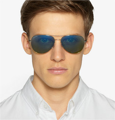 Gucci Mirrored Metal Aviator Sunglasses