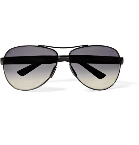 Gucci Metal D-Frame Aviator Sunglasses