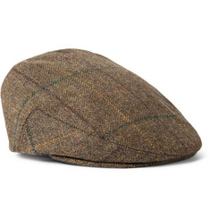 Lock & Co Hatters Glen Check Wool-Tweed Flat Cap
