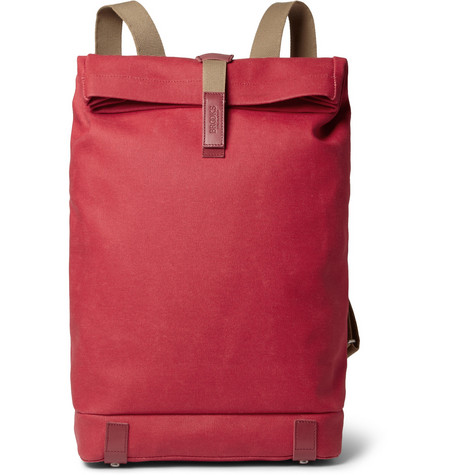 Brooks England Pickwick Leather-Trimmed Canvas Backpack
