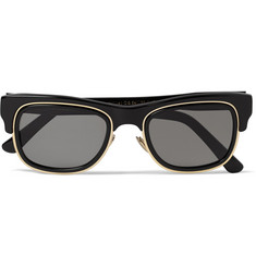 Cutler and Gross Square-Frame Acetate and Metal Sunglasses