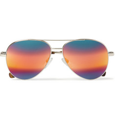Cutler and Gross Metal Aviator Mirrored Sunglasses