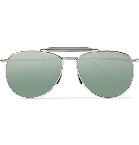Thom Browne Mirrored Aviator Sunglasses