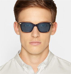 Thom Browne Gold and Acetate Square-Frame Sunglasses