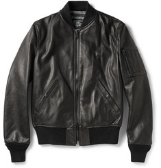Schott Slim-Fit Leather Jacket