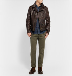 Schott Perfecto Oiled Leather Motorcycle Jacket