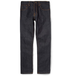 Nudie Jeans - Steady Eddie Regular-Fit Organic Dry-Denim Jeans