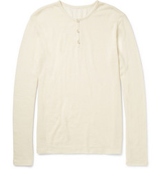 The Elder Statesman Cashmere and Silk-Blend Henley T-Shirt