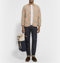 Neighborhood Patchwork Cotton Oxford Shirt