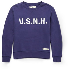Neighborhood U.S.N.H.-Printed Cotton Sweatshirt