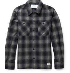Neighborhood Checked Wool-Blend Shirt