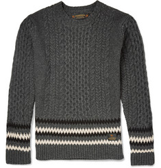 Neighborhood Cable-Knit Wool Sweater