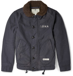 Neighborhood Faux Shearling Collar Cotton Field Jacket