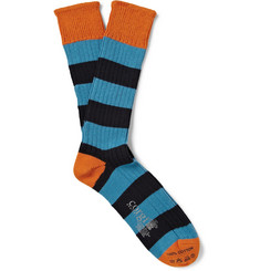 Corgi Striped Knitted Cotton Socks