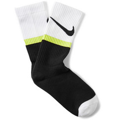 Nike Swoosh-Print Cotton-Blend Socks