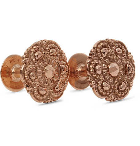 Alice Made This Francis Rose Gold-Plated Cufflinks
