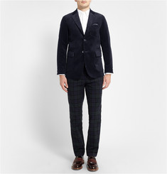 Beams Plus Blue Slim-Fit Corduroy Suit Jacket
