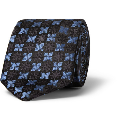 Penrose Embroidered Woven-Silk Tie