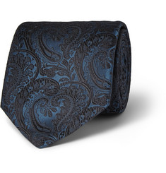Penrose Paisley Embroidered-Silk Tie